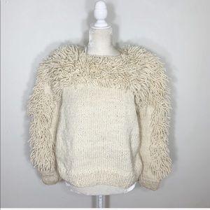 Anthropologie Indego Africa shag knit sweater